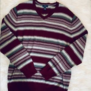 GAP Maroon/Light Grey/Dark Grey Sweater-XL *F514*